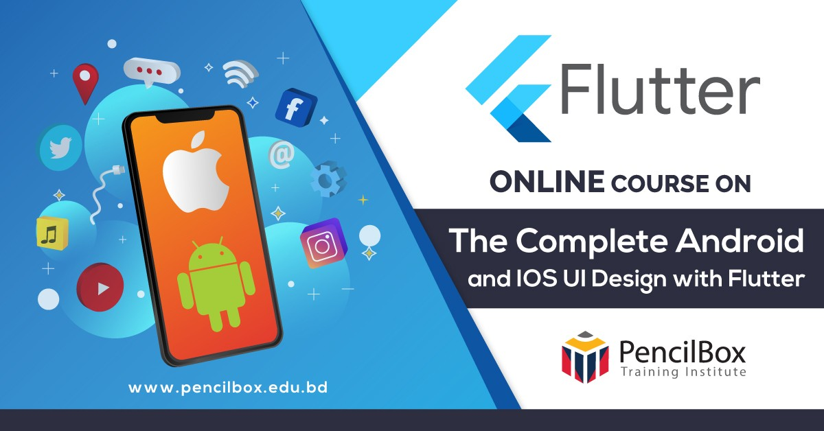 Online Course on The Complete Android and IOS UI Design with Flutter