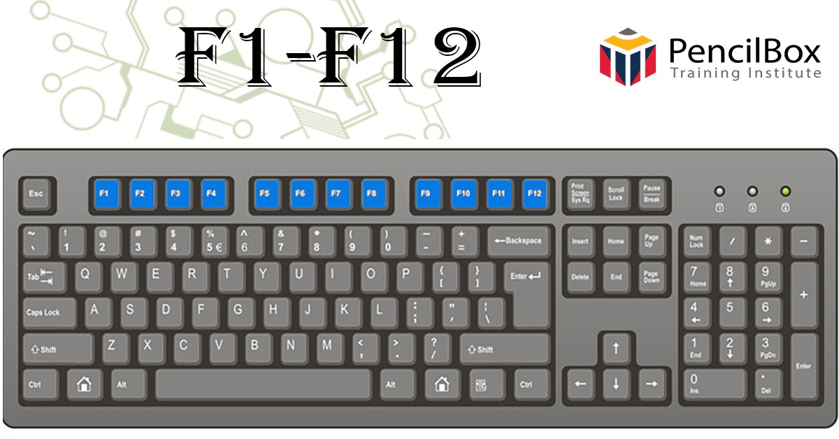 কিবোর্ডে 'Function Key' -র কাজ কী কী?