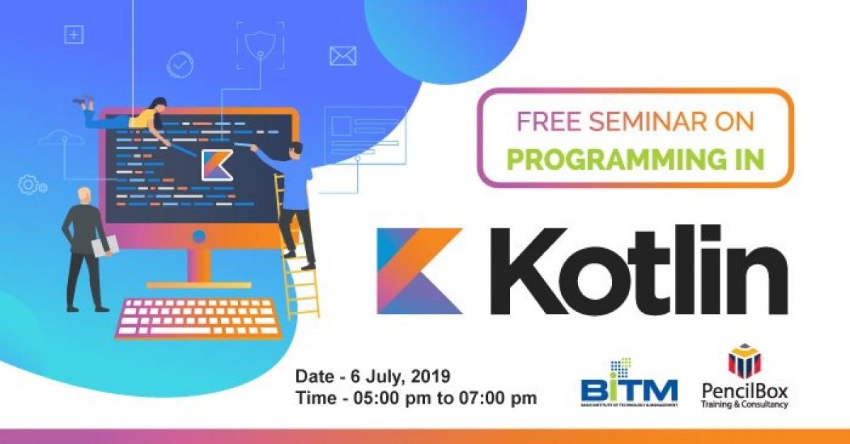 """Free Seminar on Programming in Kotlin"""